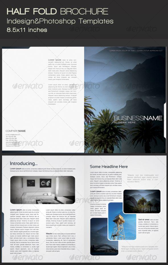 Half fold brochure bbs pinterest for Free half fold brochure template