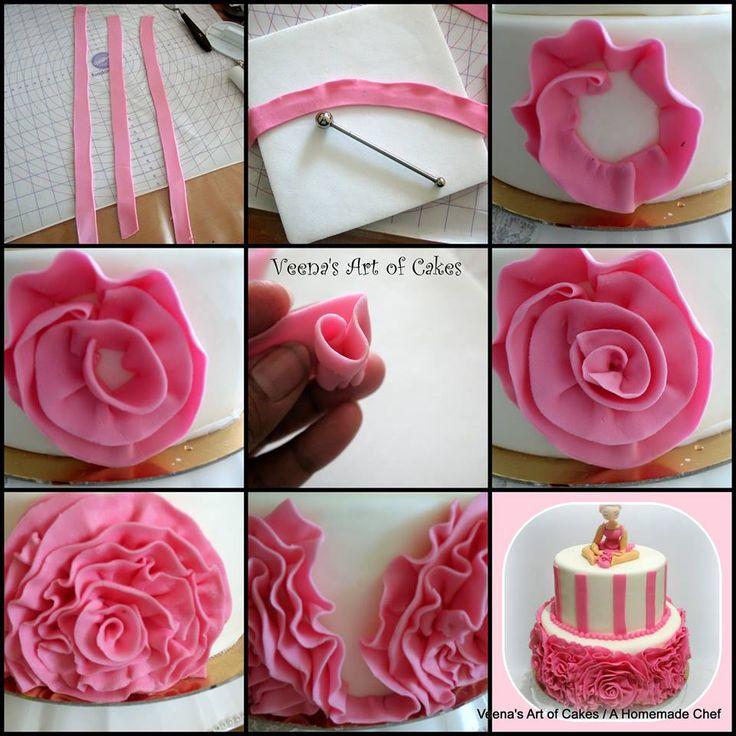 http://veenaartofcakes.blogspot.co.il/2013/06/fondant-rose-ruffle-cake-with-ballerica.html
