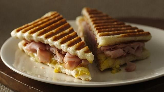 Cuban style panini - you make the bread from Pillsbury refrigerated ...