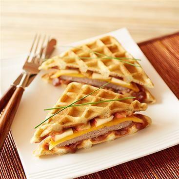 Apple Cheddar Sausage Wafflewiches
