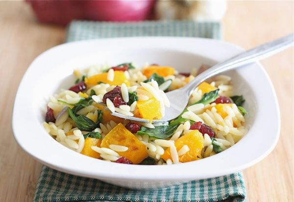 orzo-salad-with-butternut-squash... added toasted walnuts for crunch.  this was a great fall pasta salad