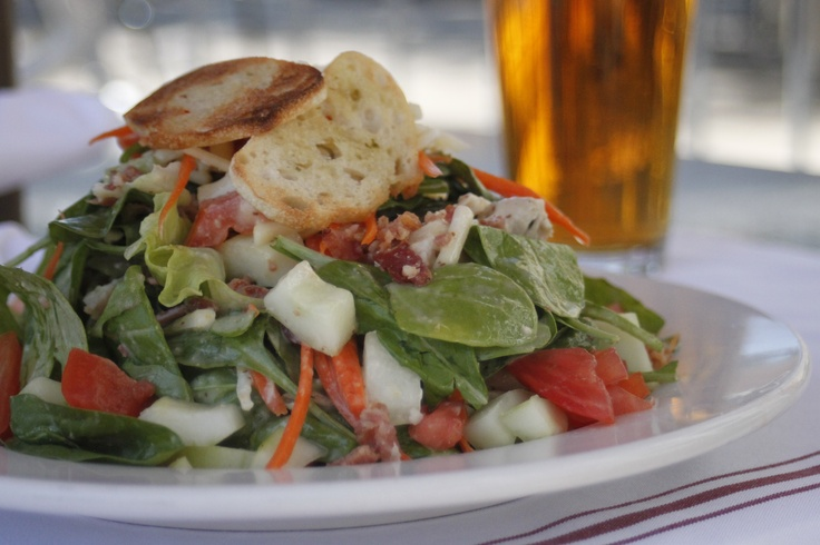 Chopped Salad – Herb roasted pulled chicken, crisp iceberg ...