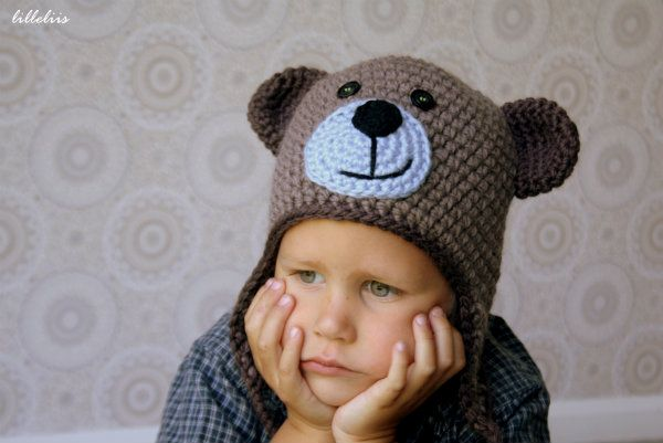 Crochet teddy bear hat ? free pattern creations Pinterest