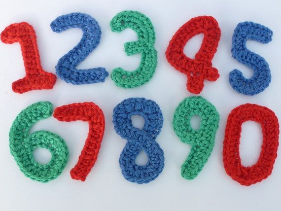 How To Crochet Numbers : crochet applique number. by MyfanwysAppliques on Etsy, ?0.60