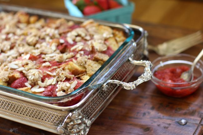baked french toast recipe two peas their pod strawberry rhubarb baked ...