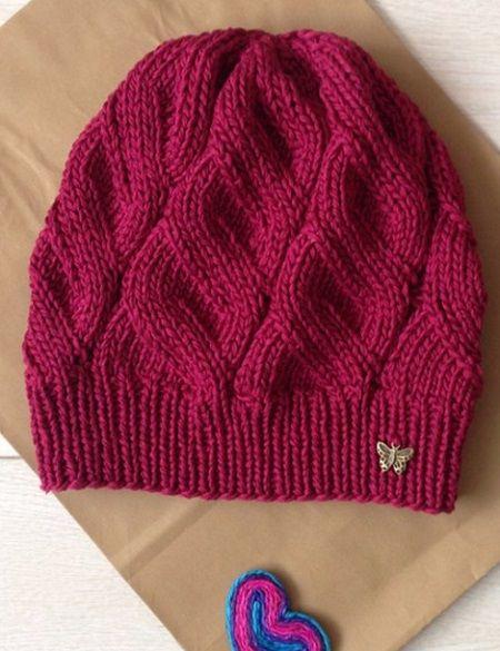 Красивый узор для вязания шапочки 92