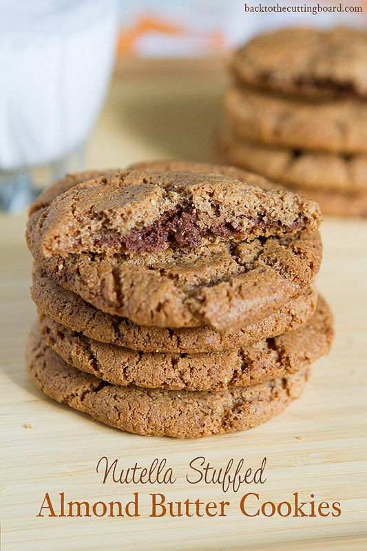Nutella Stuffed Almond Butter Cookies by Back to the Cutting Board
