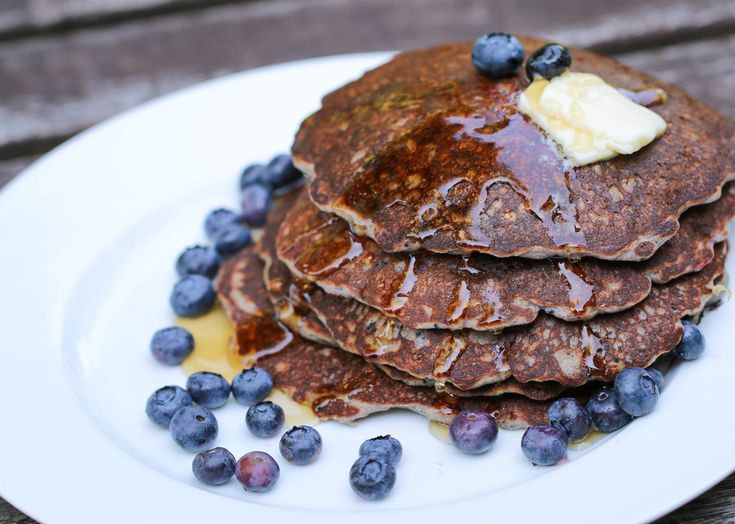 Blue Corn Blueberry Griddle Cakes with Lime Butter | The Hungry Hounds