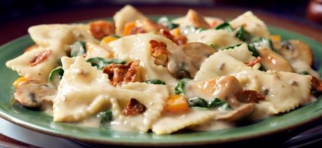... chicken amp bacon farfalle with spinach amp mushrooms very good