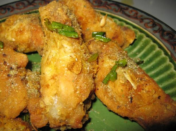 Salt and Pepper Chicken from Food.com: Crispy chicken wings, flavored ...