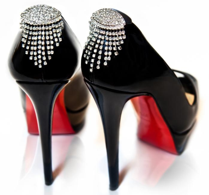 Crystal shoe Jewellery, but you could do this yourself with vintage earrings