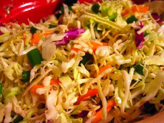 HEALTHY ASIAN SLAW, 1 PP | salads | Pinterest