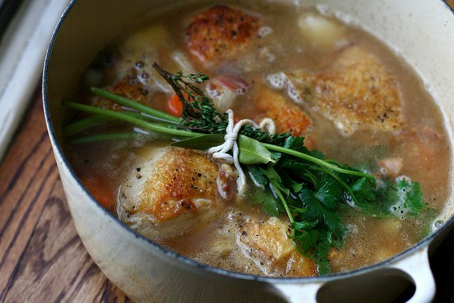 Wine-Braised Chicken With Shallots And Pancetta Recipes — Dishmaps