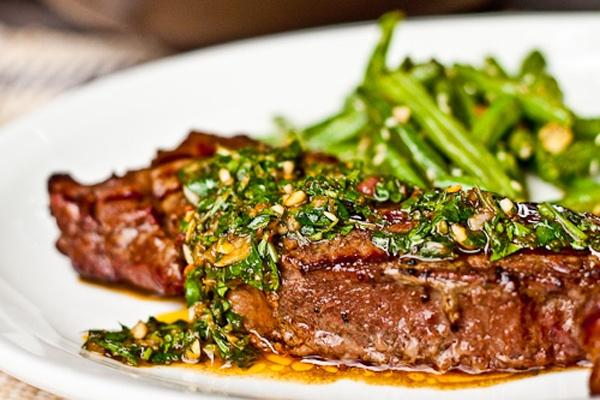 Steak w/ Chimichurri | Deliciousness | Pinterest