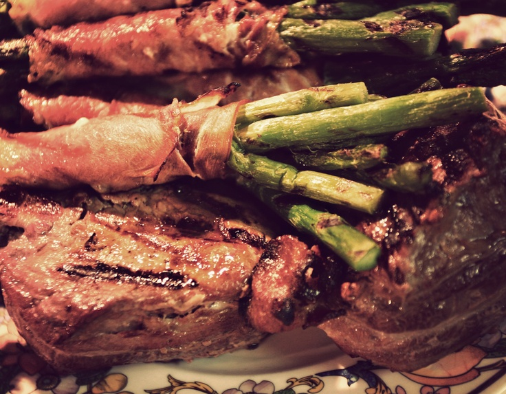 ... Marsala Wine Sauce and Grilled Asparagus Spears wrapped in Prosciutto