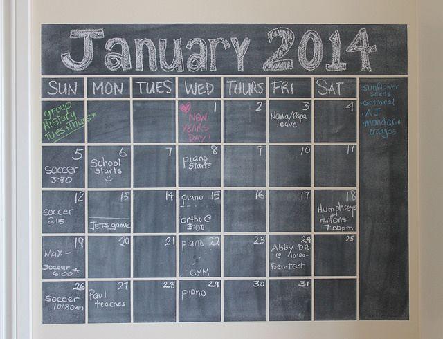 Diy Calendar Chalkboard : Chalkboard wall calendar diy crafty pinterest