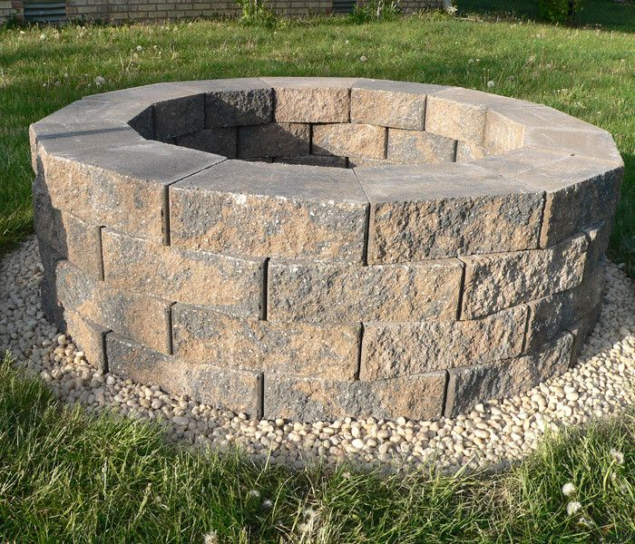 diy fire pit buy fireproof stones and no river rock other materials
