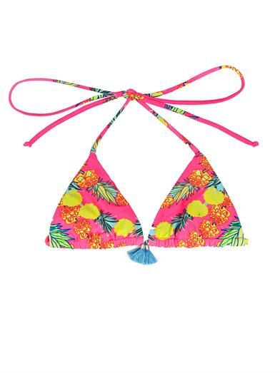 Shop now: Mara Hoffman Garlands Print Triangle Bikini Top