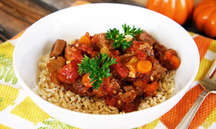 Slow Cooker Beef and Tomato Stew - light and healthy
