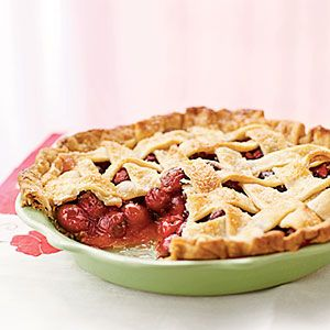 This not-too-sweet cherry pie is delicious on its own, and even better ...