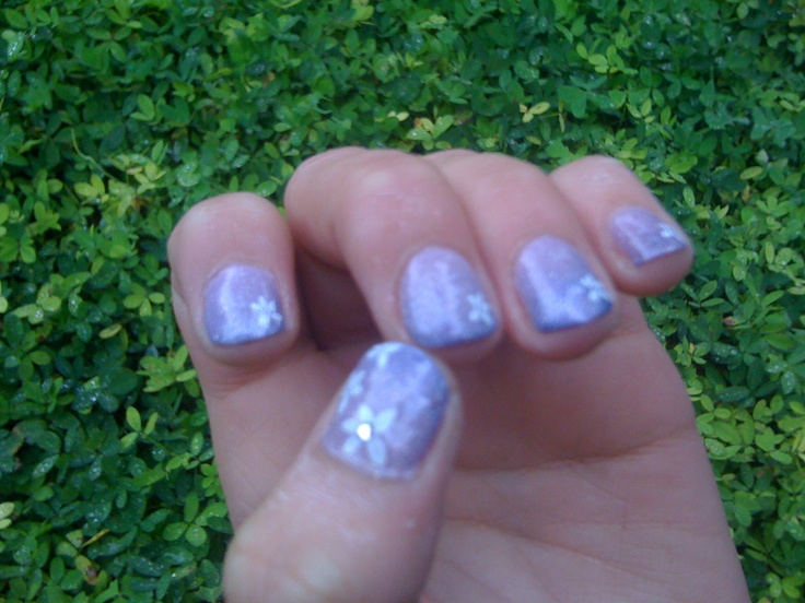 Lilac Nail Art | Nail Art | Pinterest