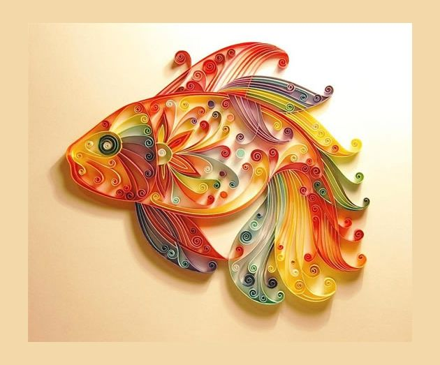 Quilling fish quilling and patterns pinterest for Big quilling designs
