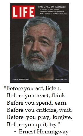 Ernest Hemingway About Writing Quotes