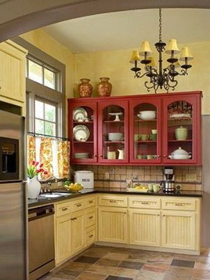 download image red and yellow kitchen color schemes pc android