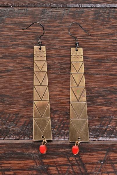 Geometric tribal earrings