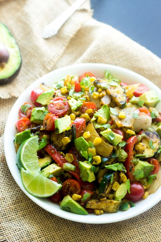 Grilled Corn Salad with Jalapeno Lime Vinaigrette - A quick, easy and ...
