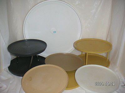 Lazy susan storage shelf tray rack desk craft supplies - Lazy susan desk organizer ...