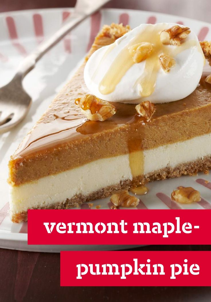 ... maple syrup and chopped walnuts top this cream cheese-and-pumpkin pie