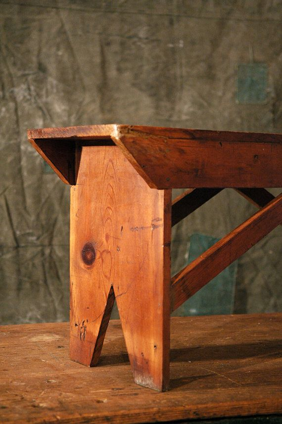 Rustic Wood Bench // Old Wood Bench by 86home on Etsy, $448.00