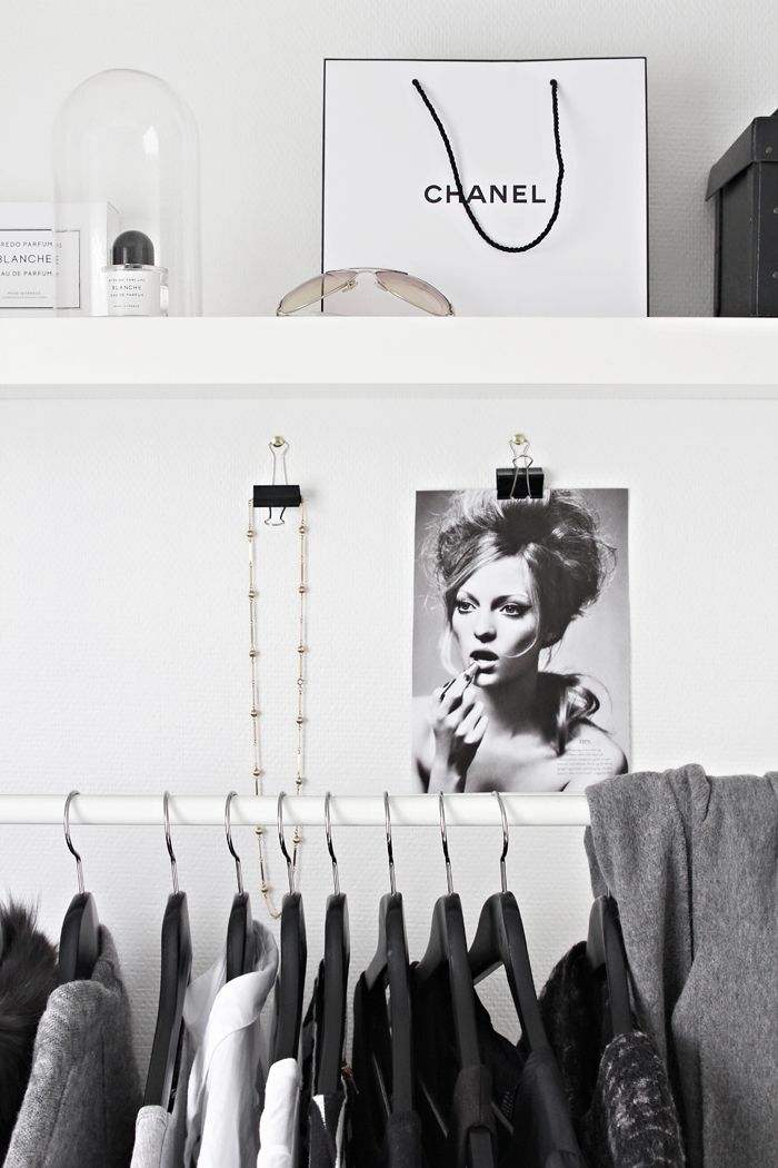 Clothing rack from stylizimo.  i know, not exactly something to wear, but look how much more gorgeous clothes can look in a space like this!