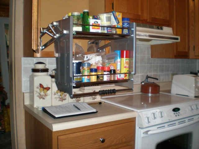 pull down shelf kitchen pinterest