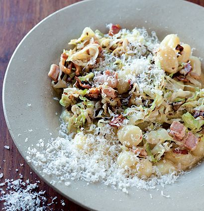 Gnocchi with a creamy cider and bacon sauce. tried and tested.
