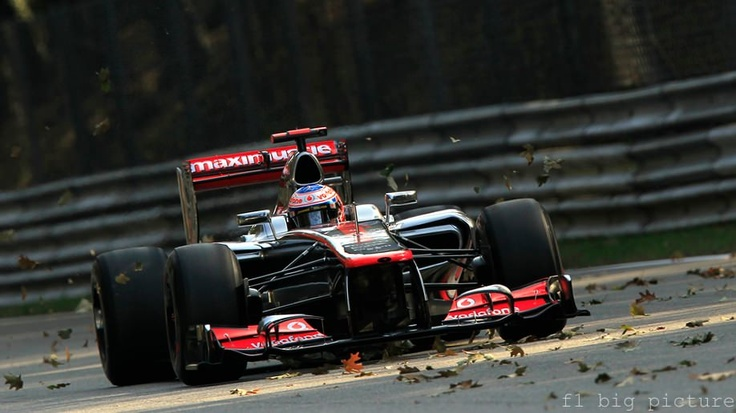 Jenson Button kicks up a seasonal storm around the Autodromo Nazionale Monza during Free Practice on Friday. The Formula 1 fraternity are making their final European stop of the season at the historic park, before heading off for seven more flyaway races.