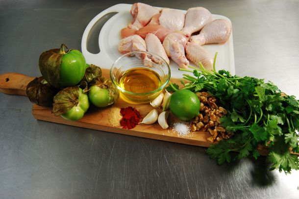 Cilantro Pesto Grilled Chicken with Tomatillos | KneadForFood - Food ...