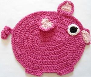 Crochet Pig Dishcloth