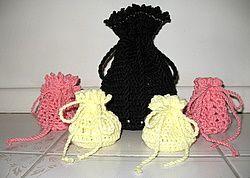 Free pattern Drawstring Bag Crochet Needle and Hook ...
