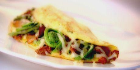 fiddlehead omelet
