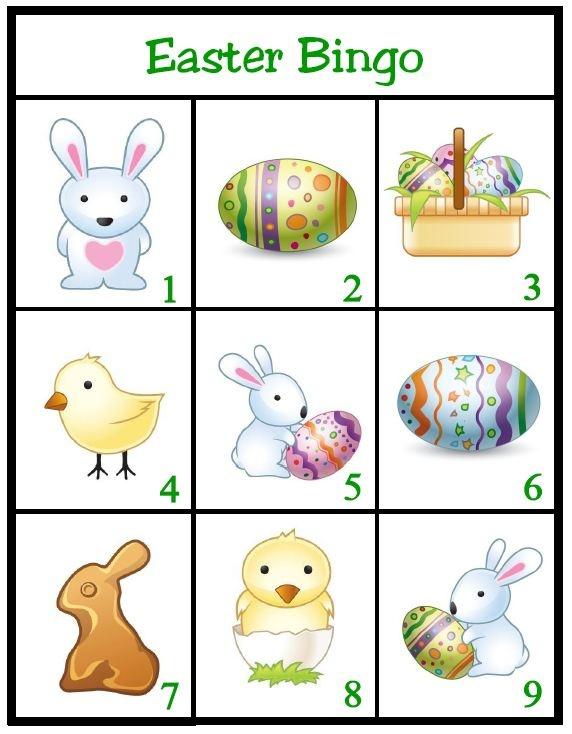 Easter Bingo Game - Tip Junkie | Easter Preschool Activities ...