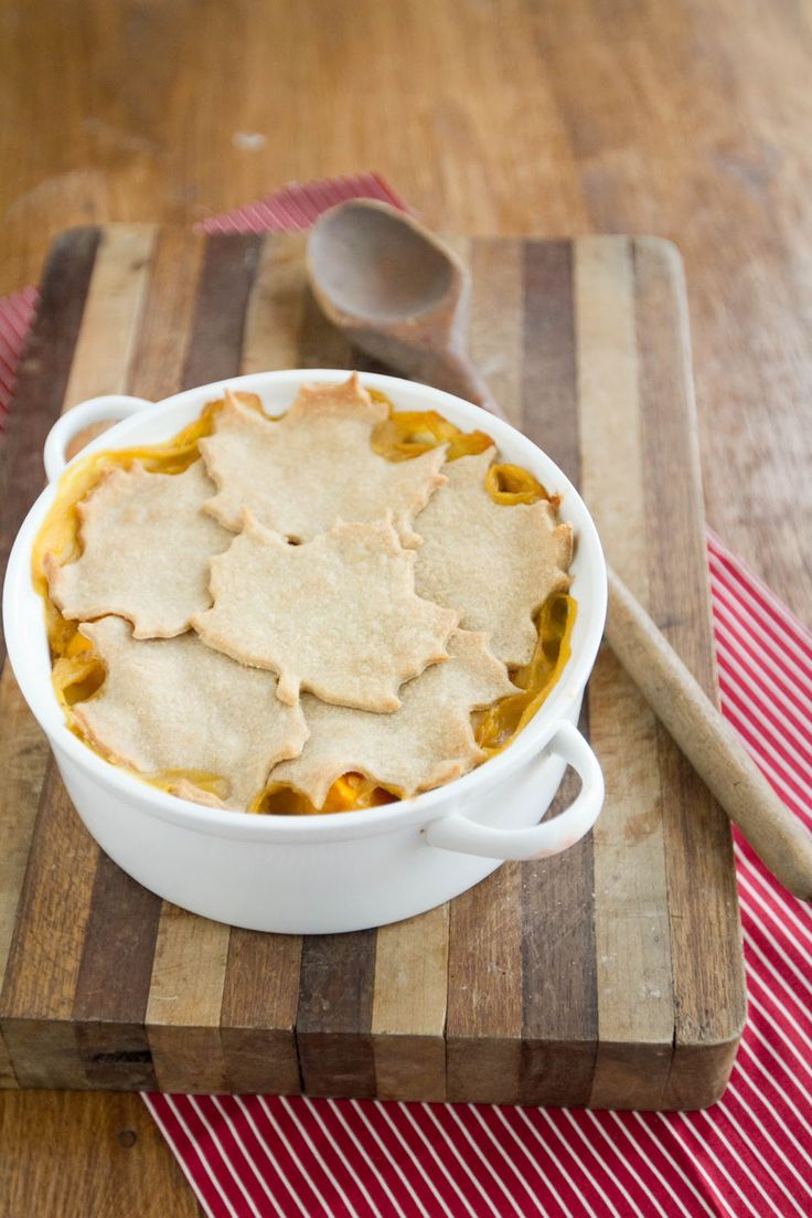 Fall pot pie: butternut squash and lentils, whole wheat crust
