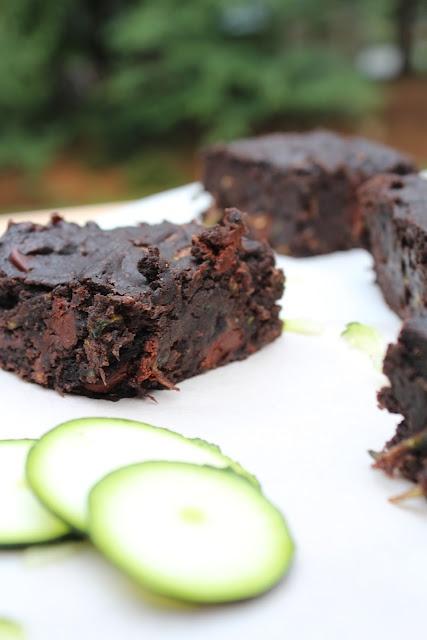 Dark Chocolate Zucchini Brownies {Whole Wheat}