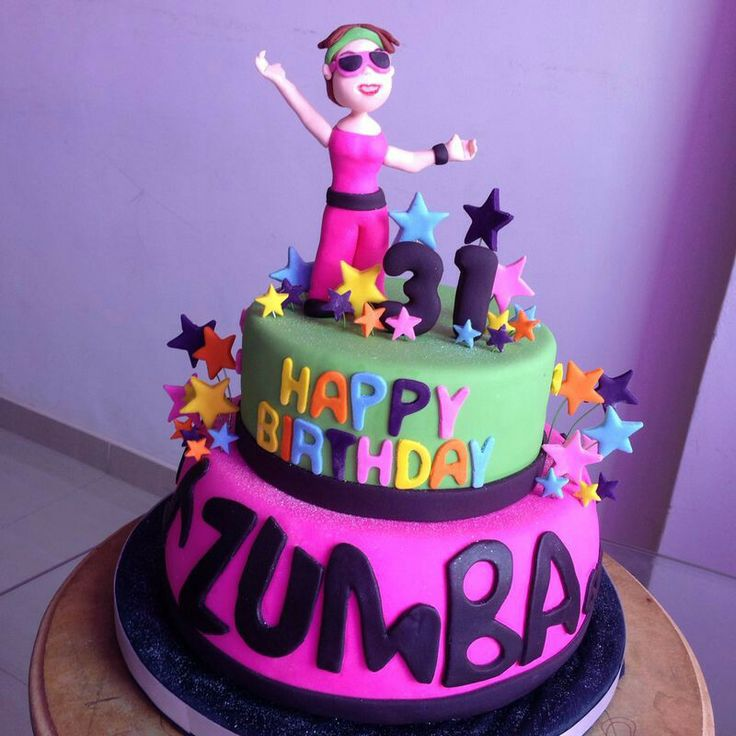 Back gt gallery for gt zumba birthday cake