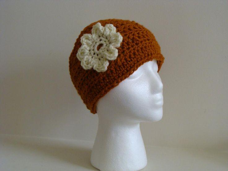 head warmers crochet patterns Crochet Head Warmer Rust Orange And ...