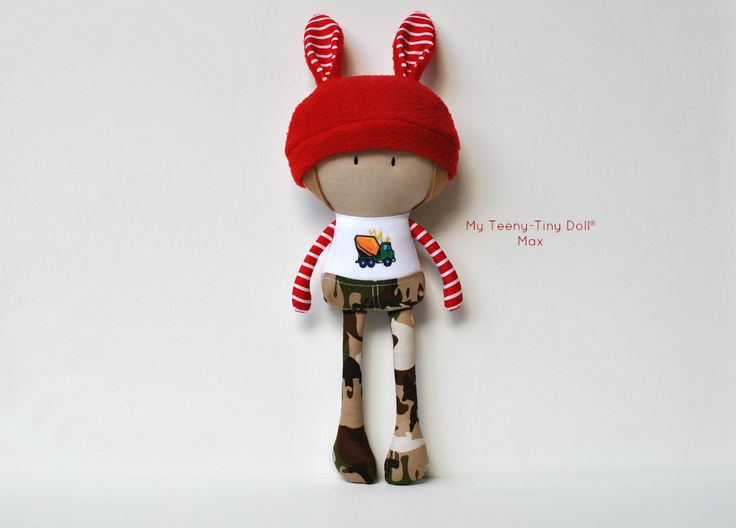 """My Teeny-Tiny Doll® Max / 11"""" Handmade Fashion Dolls by Cook You Some Noodles®"""