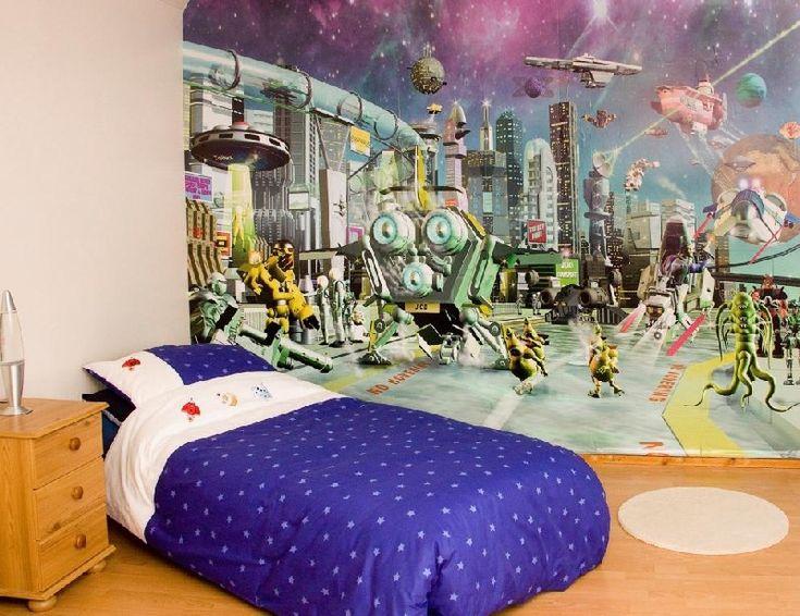Kids Bedroom Wall Murals Photo Decorating Inspiration