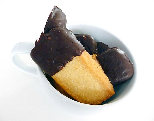 Chocolate-Dipped Shortbread Cookies from Brown Eyed Baker