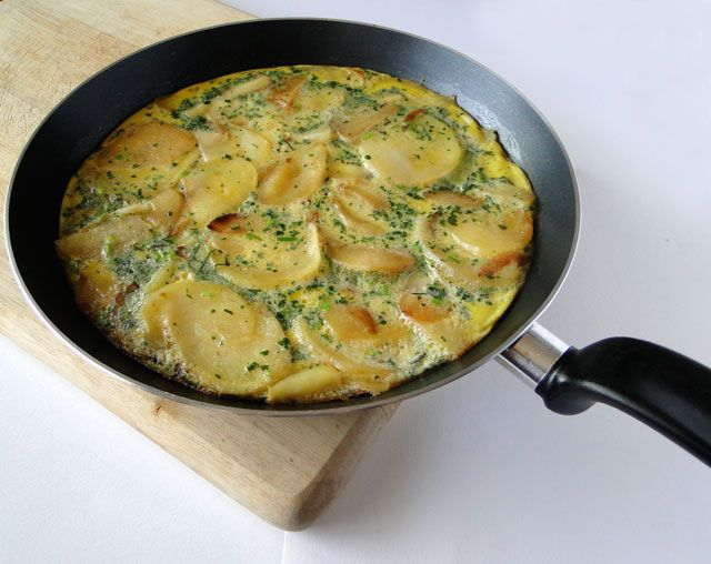 Potato frittata--made this today! Added some Kale and parmesan.